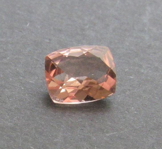 Morganite 2.25 Carat Cushion 8x10mm Natural Mozambique Peach Gemstone with Videos