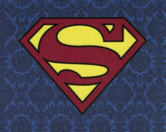 Superman Logo: DC Comics fabric print