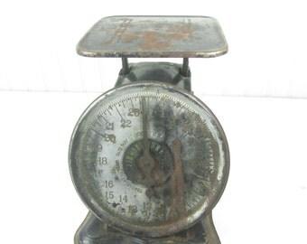 Antique scale, Delmar scale,shop scale,farmhouse decor,kitchen scale, black scale,house scale,vintage scale,metal scale,vintage kitchen,
