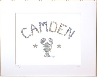 Camden print, Camden Maine, Camden love, Maine lobster, Schooner, Camden wedding, Maine love, Maine note card, Maine coast