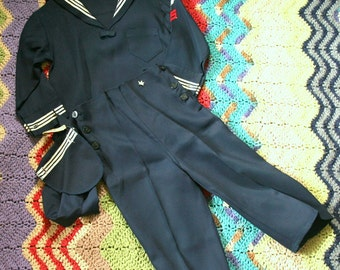 Child's Vintage Navy Uniform