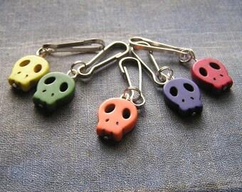 Multi Color Zombie Zipper pulls clips for jacket purse keychain Walking dead fan Zipper charms