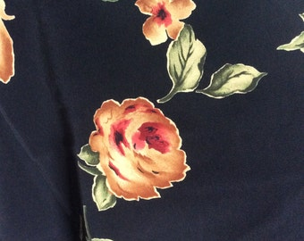 Polyester floral fabric 4yds