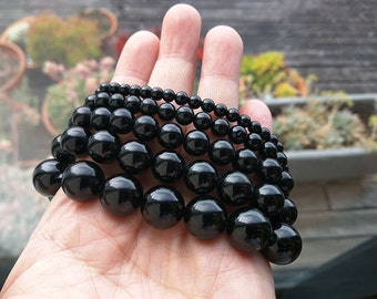 High Quality Black Tourmaline Bracelet-4,6,8,10,12mm-AAA Grade