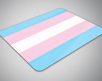 Transgender Flag mouse pad