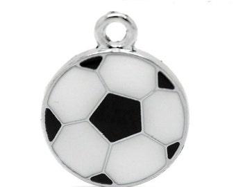 1 Soccer ball Charm, Silver, Soccer Charm, Gift