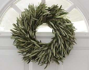 Olive Branch Wreath - 12 inch