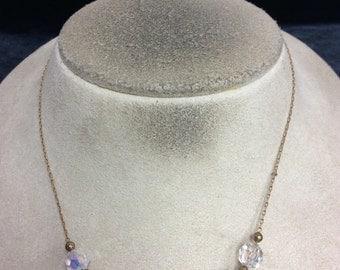 Vintage Aurora Borialis Beaded Necklace