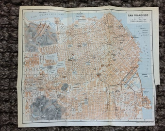 1909 San Francisco Map [9.5 x 8.2 in.]