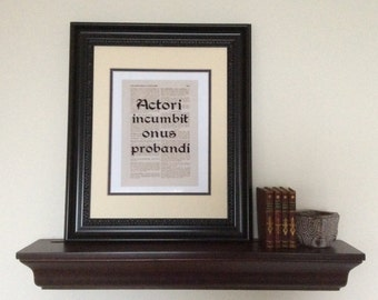 Lawyer Gift - Law School Graduation Gift Set - Lawyer Attorney Legal Print Art - Lawyer Office Decor - Latin Law Terms - Four Elegant Prints