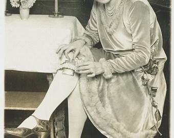 Woman Dancer, Missouri, Hiding Liquor in Garter -Prohibition Era