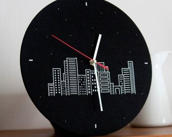 Wall Clock. The night city