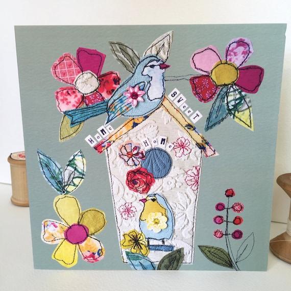 Birdhouse-Greeting Card- handfinished