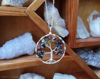 Tourmaline Tree of Life Necklace