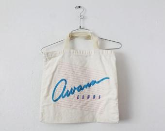 "Vintage 1980s Awana Clubs 14"" x 15.5"" Tote Bag"