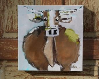 10x10 Acrylic on Canvas: Moooore Love