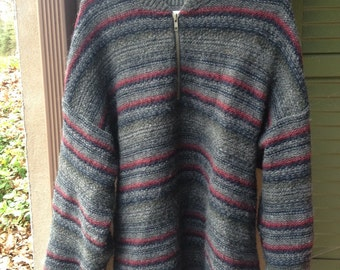 Mens 1/4 zip wool pull over sweater. Size xl