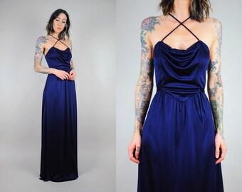 70's midnight grecian dress