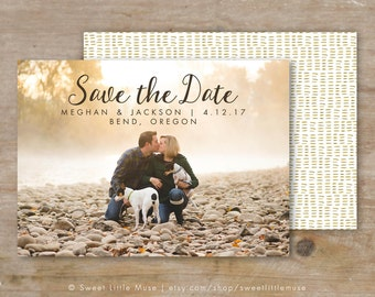 Save the Date Template - Save the Date Card - Save the Date - Engagement Announcement