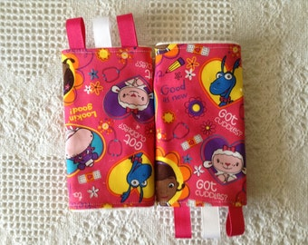 Doc McStuffins Teething Pads / Drool Pads / Strap Covers for Baby Carriers Mai Tei Ergo Tula Car Seats
