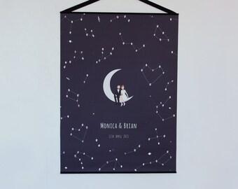 Wedding Finger Print Tree Zodiac Stars Personalized By Liumy