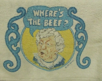 Where's the BEEF? towel