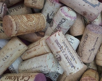 125 used wine corks from red and white wines