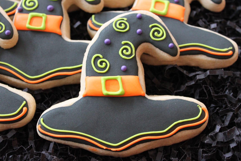 Halloween Cookies Witch Hat Cookies Custom Cookies