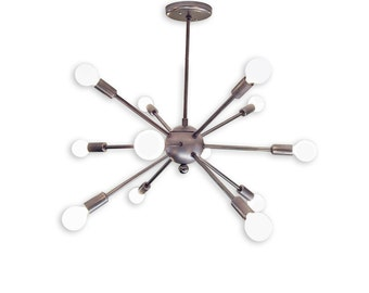 12 Arm Sputnik Chandelier Industrial Modern Steel