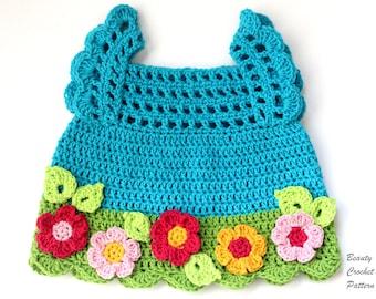 Flower Girl Dress Pattern, Crochet Dress Baby Pattern, Girl Toddler Dress Pattern, Floral Dress PDF, Crochet Dress Pattern for Girls