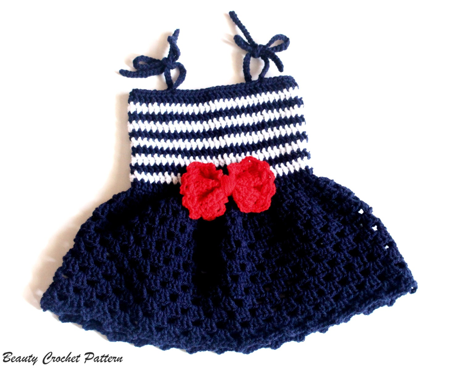 Crochet pattern baby sailor dress baby sailor outfit baby zoom bankloansurffo Choice Image