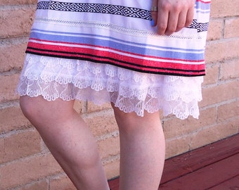 Slip extender - NEW - Soft WHITE gathered lace slip extender.  For elegance or just for fun.