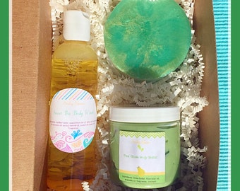 Spa Gift box 2- choice of scent,  spa gift box, bath and body gift set, vegan gift set, spa gift basket, Mother's Day gift box, gift set
