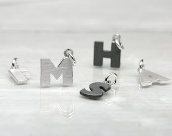 925 silver pendant LETTER Pendant initial for necklace or bracelet