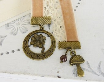 bookmark lucky charm  Velvet fly agaric bronze