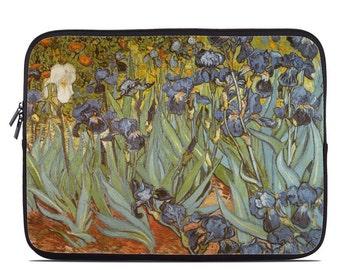 Laptop Sleeve Bag Case - Irises by Vincent van Gogh - Neoprene Padded - Fits MacBooks + More