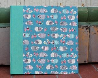 Photo album baptism, baby photo albums, customizable, substance-related photo album, baptism gift, photo album turquoise with hedgehogs