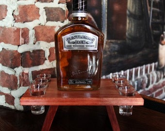 Wooden Whiskey Caddy