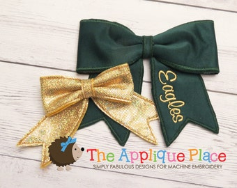 Cheer Bow * Hair Accessory * In The Hoop ITH * Machine Embroidery PATTERN Digital Download Design
