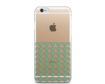 Clear iPhone 6 case iPhone 6s case iPhone 6 case Geometric iPhone 6s case Triangle iPhone 6 case Mint iPhone 6s case cute iphone 6 case