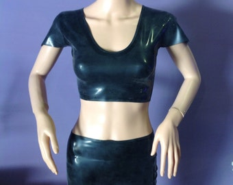 Latex V-neck top
