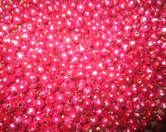 350 Loose Vintage Pink Mercury Glass Beads
