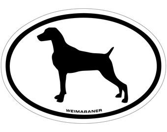 Weimaraner Vinyl Decal Sticker