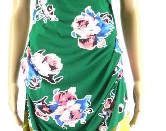 Shirred Dress knee length arm free