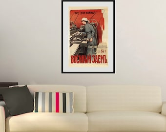 Reprint of a Russian Vintage Communist Propaganda Poster