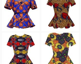 African Clothing, African Print Shirt. (Short Sleeve)