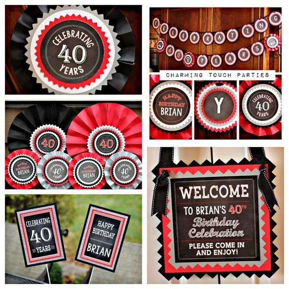 ADULT BIRTHDAY PARTY Decorations 40th Birthday Party 40th Birthday