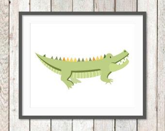 Zoo Nursery, Jungle Animals Nursery, Jungle Art Prints, Crocodile, Baby Animals, Baby Art Prints, Children's Art