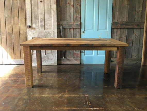 Reclaimed Wood Farmhouse Dining Table IN STOCK By Wwmake On Etsy