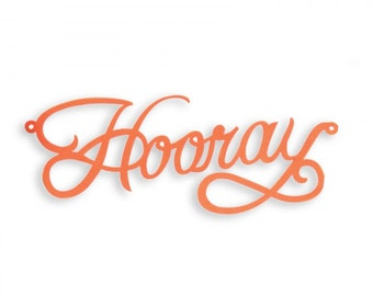 New! Sizzix Thinlits Die - Cake Topper, Hooray by Where Women Cook 660892